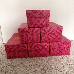 6 Tory Burch Shoe boxes
